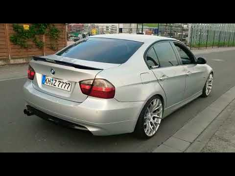 bmw 320i e90 esd endschalld mpfer auspuff bearbeitet exhaust modification b. Black Bedroom Furniture Sets. Home Design Ideas