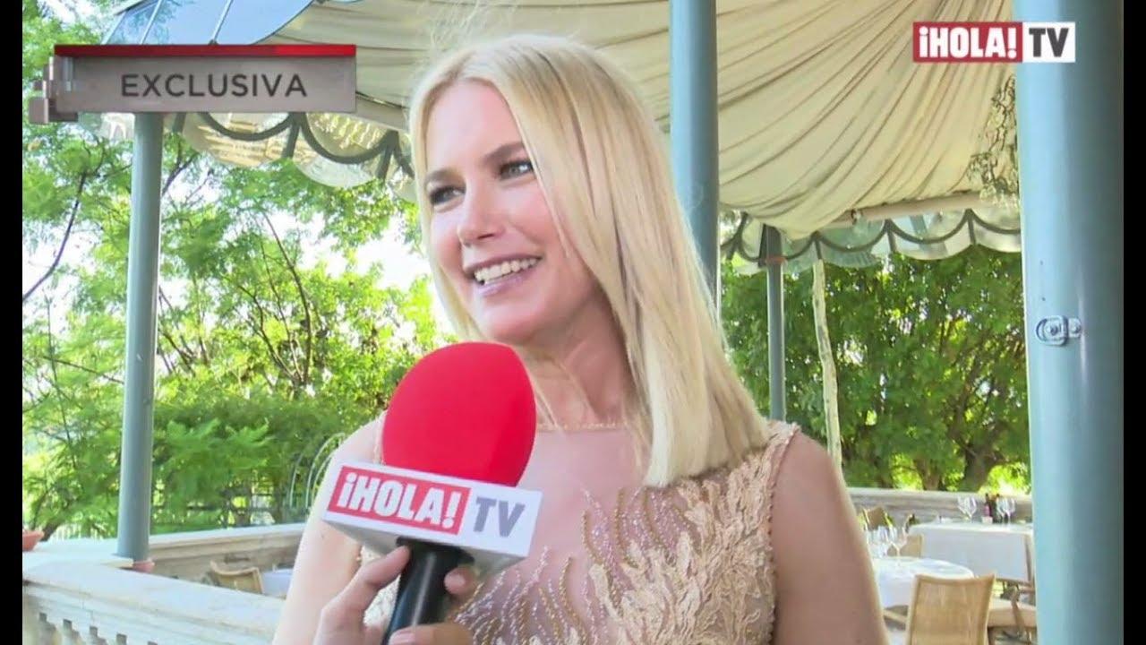 Valeria Mazza unas horas antes de la gala Starlite 2018 en Marbella ...