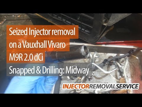 Snapped Midway - Drilling - 2008 Vauxhall Vivaro M9R 2.0l - Www.injector-removal-service.co.uk