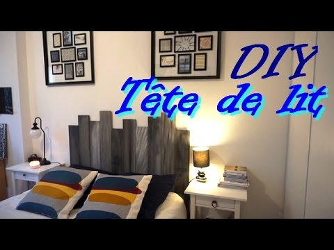 diy t te de lit en bois youtube. Black Bedroom Furniture Sets. Home Design Ideas