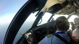 [Cockpit View] InterSky ATR72-600 Approach and Landing Menorca (Mahon) Airport