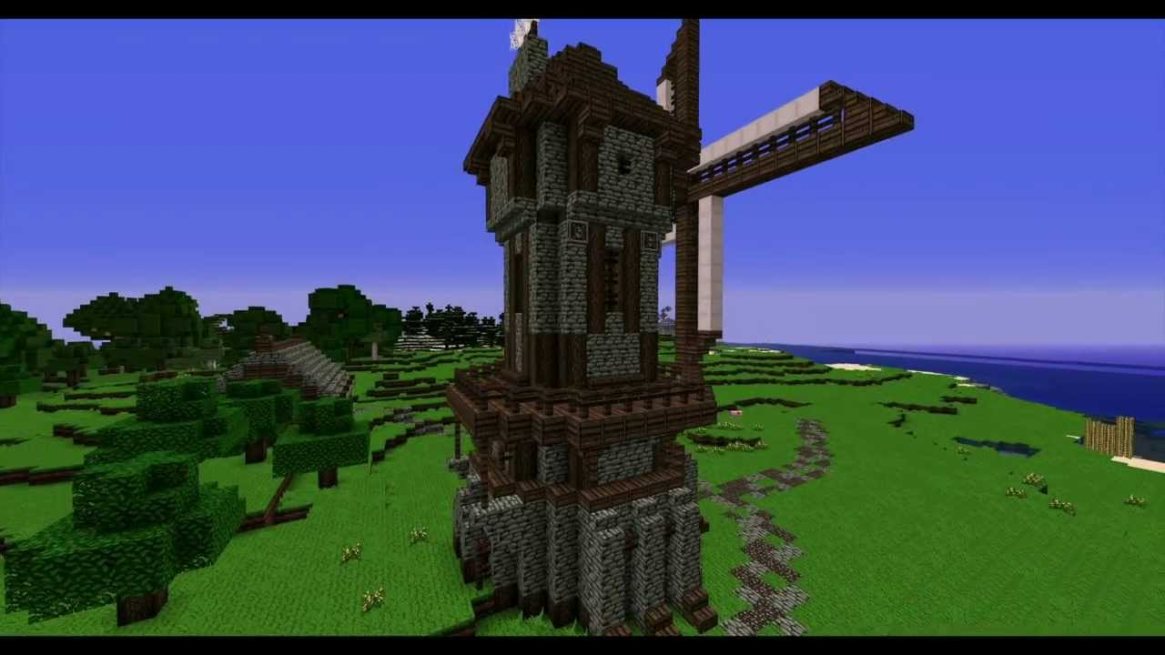 Minecraft Lonely Medieval Windmill Timelapse NPG