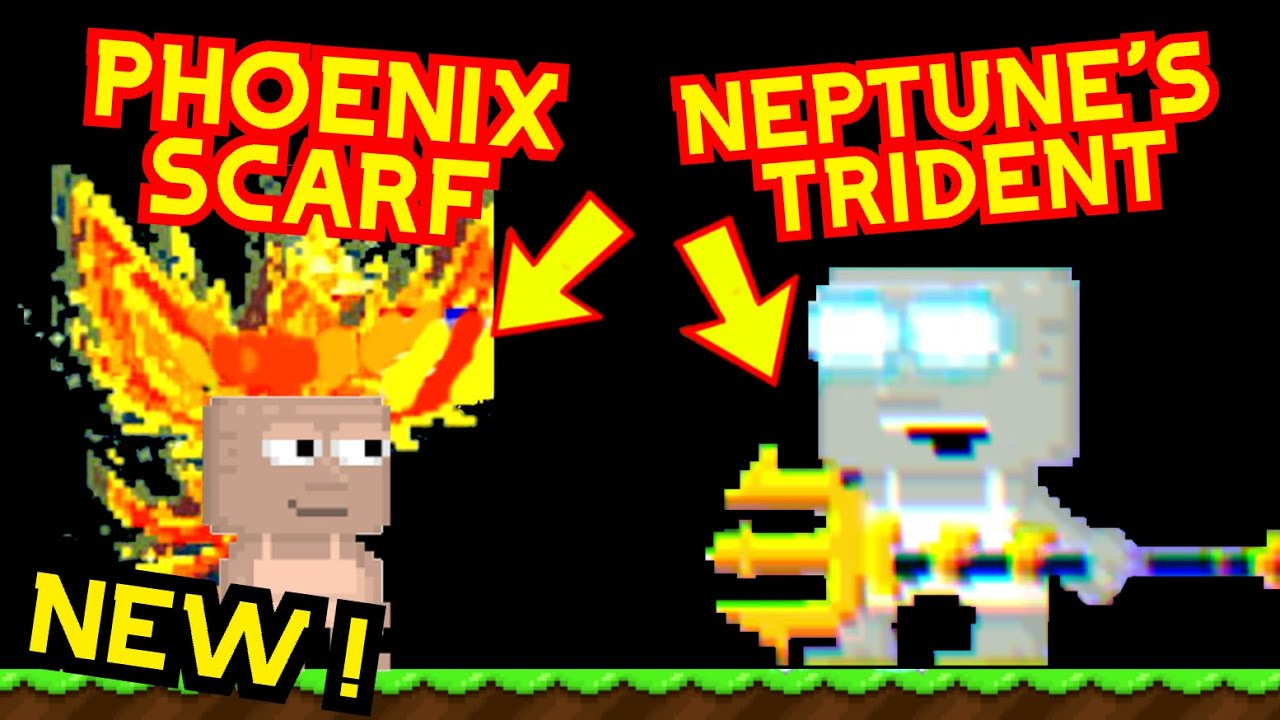 *NEW* | NEPTUNE'S TRIDENT AND PHOENIX SCARF !!!  + OPENING 50 SUMMER SUPRISES !!! - Growtopia
