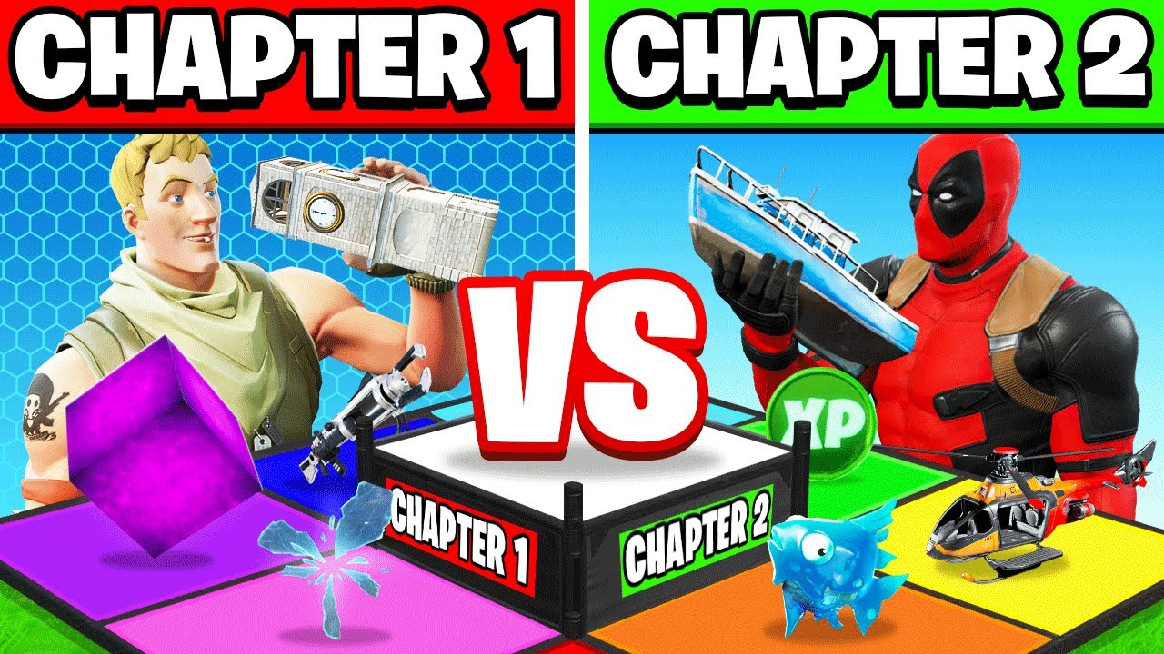 CHAPTER 1 vs CHAPTER 2 BOARD GAME (Fortnite) thumbnail