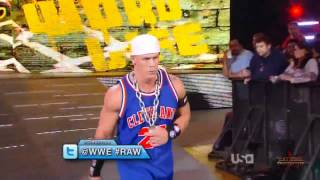 WWE Raw 3/12/12 - John Cena World Life Entrance HD