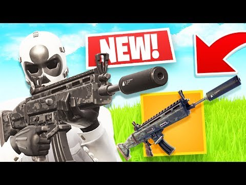 New Suppressed Assault Rifle Gameplay! (Fortnite LIVE Battle Royale)