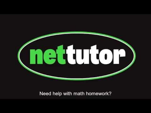 NetTutor®: Bring Your Math Homework to a Tutoring Session