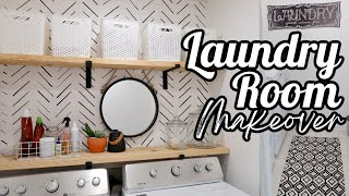 DIY LAUNDRY ROOM MAKEOVER UNDER $50 BEFORE AND AFTER ON A BUDGET 2020 ORGANIZATION & CLEAN WITH ME