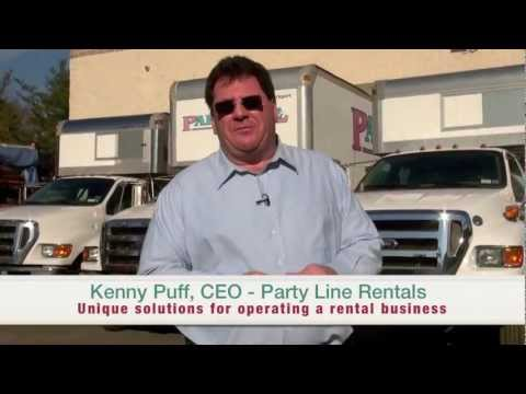 """Party Line Rentals - """"Unique solutions for operating a rental business"""" (B2B)"""