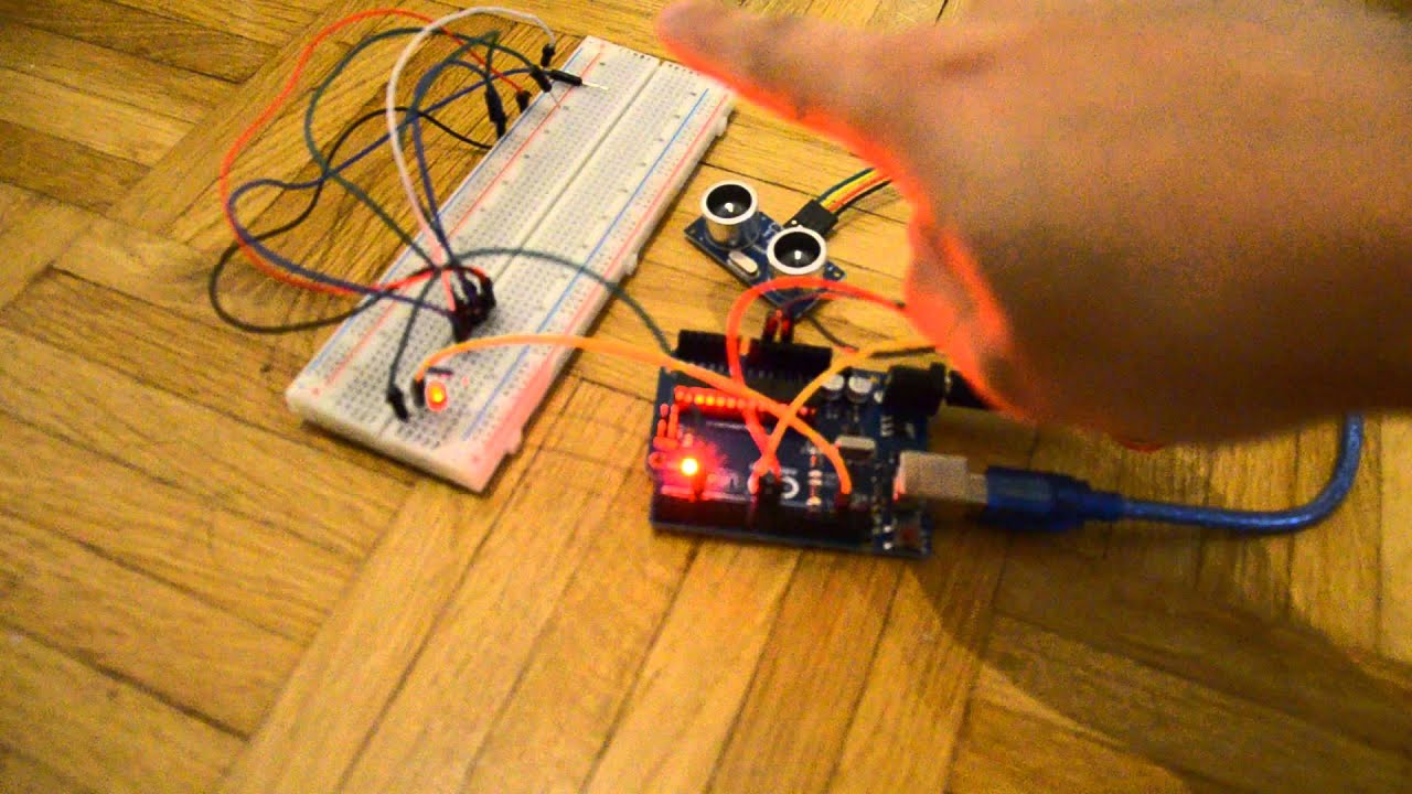 Ultrasonic sensor led arduino uno youtube