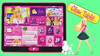 Barbie Glam Tablet 60+ Barbie Phrases - Music Photo Video Map Shopping Electronic Kid Toys DCTC