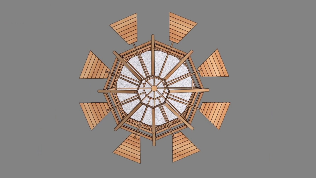 Gazebo 12ft Octagon Assembly Sequence from Outdoor Living Today 2017