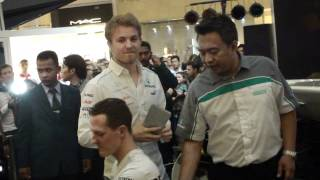 Download Meet & Greet With Mercedes AMG Petronas Driver Michael Schumacher & Nico Rosberg at KLCC MP3 song and Music Video