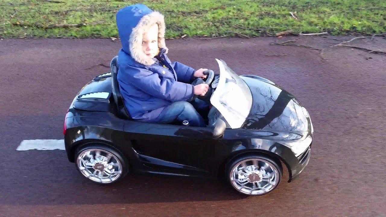 Audi R Spyder Remote Controlled V Car For Kids YouTube - Audi r8 6v car