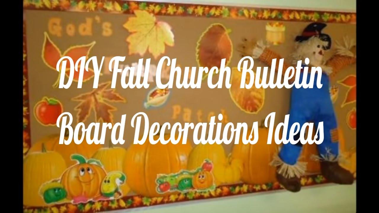 DIY Fall Church Bulletin Board Decorations Ideas