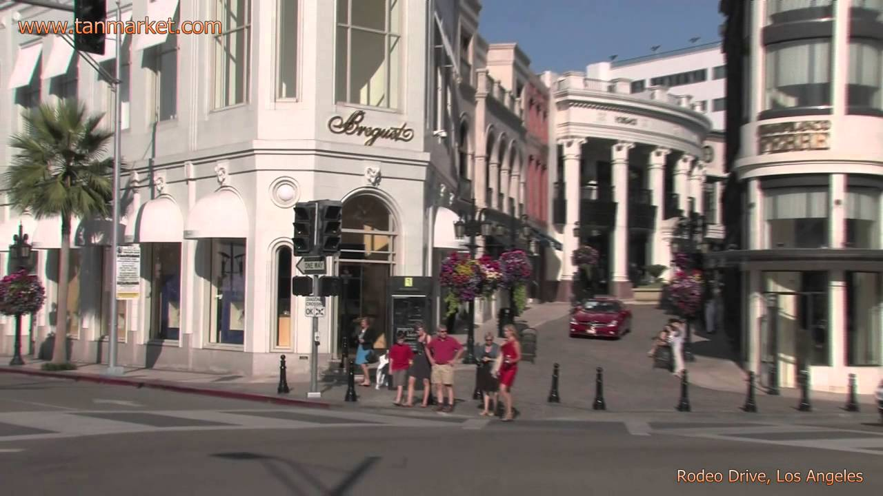 Rodeo Drive Los Angeles California Usa Collage Video