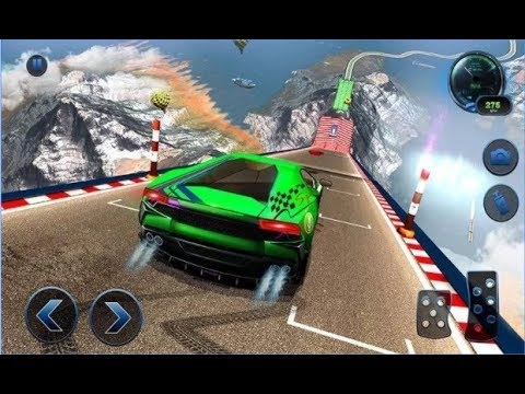 Impossible Car Crash Stunts Car Racing Game / Android Gameplay Video