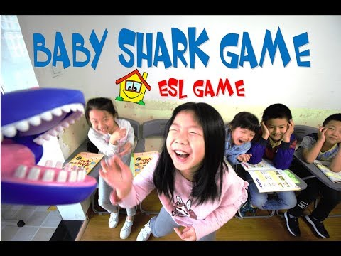 Baby Shark Game - ESL Toy game - ESL Teaching tips for your class or at Home