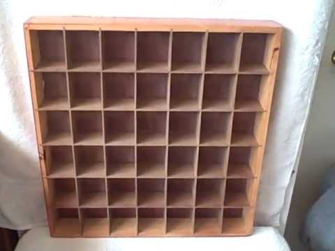 shot glass display case holder wooden used holds 42 glasses youtube