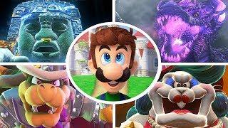 Super Mario Odyssey - All Bosses with Luigi (No Damage)