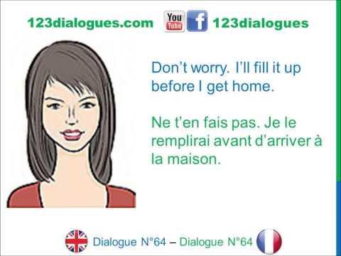 Dialogue 64 - English French Anglais Français - Borrow the car - Emprunter la voiture