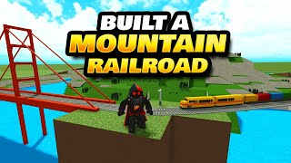 Built A Mountain Railroad In Itty Bitty Railway Roblox