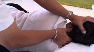 นวดบรรเทาอาการปวดศีรษะ(ไมเกรน)ที่เกิดจาก เส้นอิทา-ปิงคลา