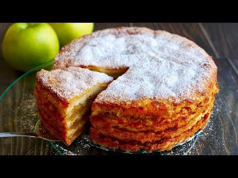 """Простейший Яблочный Пирог """"ТРИ СТАКАНА"""" Изумительно Вкусный"""