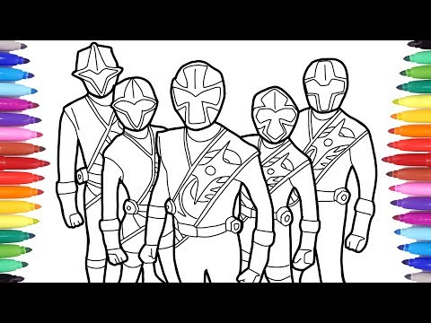 Power Rangers Coloring Pages Power