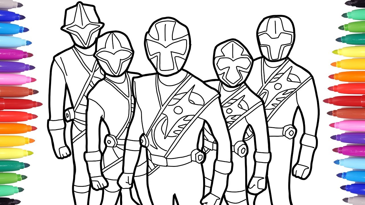 Power Rangers Coloring Pages Power Rangers Coloring Book Colouring Power Rangers For Kids Youtube