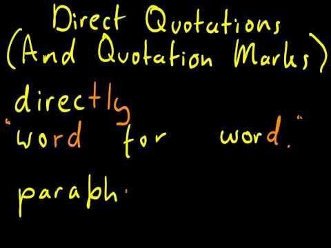 Lrnteach/TEFL Dictionary: Direct Quotations
