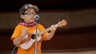aidan james 8 year old covers train hey soul sister