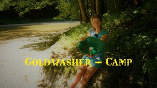 Gold panning camp - will I find gold? Overnight on the river - Vanessa Blank 4K