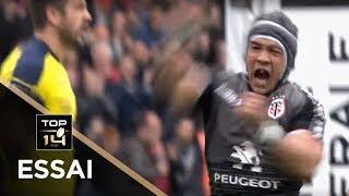 TOP 14 - Essai Cheslin KOLBE (ST) - Toulouse - Clermont - J22 - Saison 2018/2019