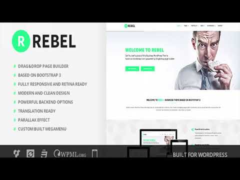 Rebel wordpress business bootstrap theme themeforest website rebel wordpress business bootstrap theme themeforest website templates and themes friedricerecipe Gallery