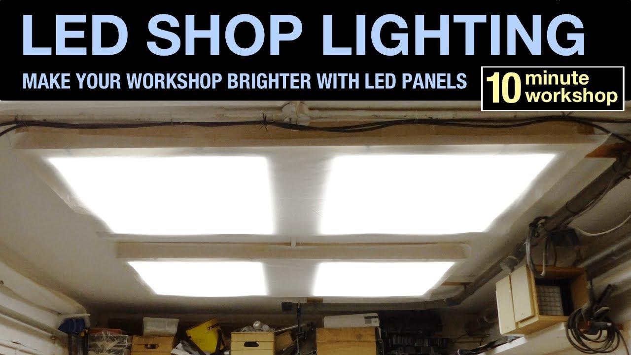 Led Workshop Lighting 080 Youtube