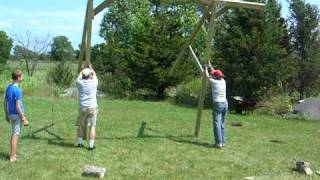 Raising The Swing Frame
