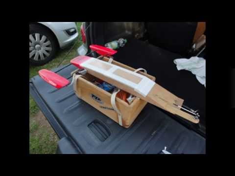 RC Boat self made Wood Rigger from Uwe .