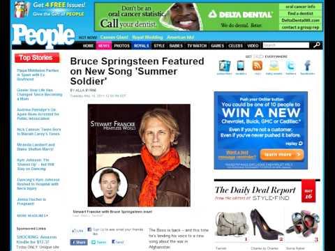 People Magazine Article on Stewart Francke w/ Bruce Springsteen