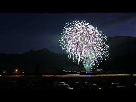 2020【汽笛がジングルベル】磐越西線「SLばんえつ物語」日出谷駅にてSLクリスマストレイン出発の花火