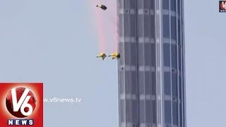 Burj Khalifa : New World Record set by French Base Jumpers