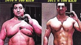 Weightloss 120 pounds in 12 months Transformation to Sixpack Abs all natural