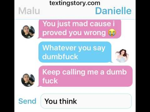 DANIELLE BREGOLI AND MALU FIGHTING OVER TEXT (not real)