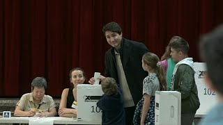 Justin Trudeau casts vote in Canada's general election | AFP