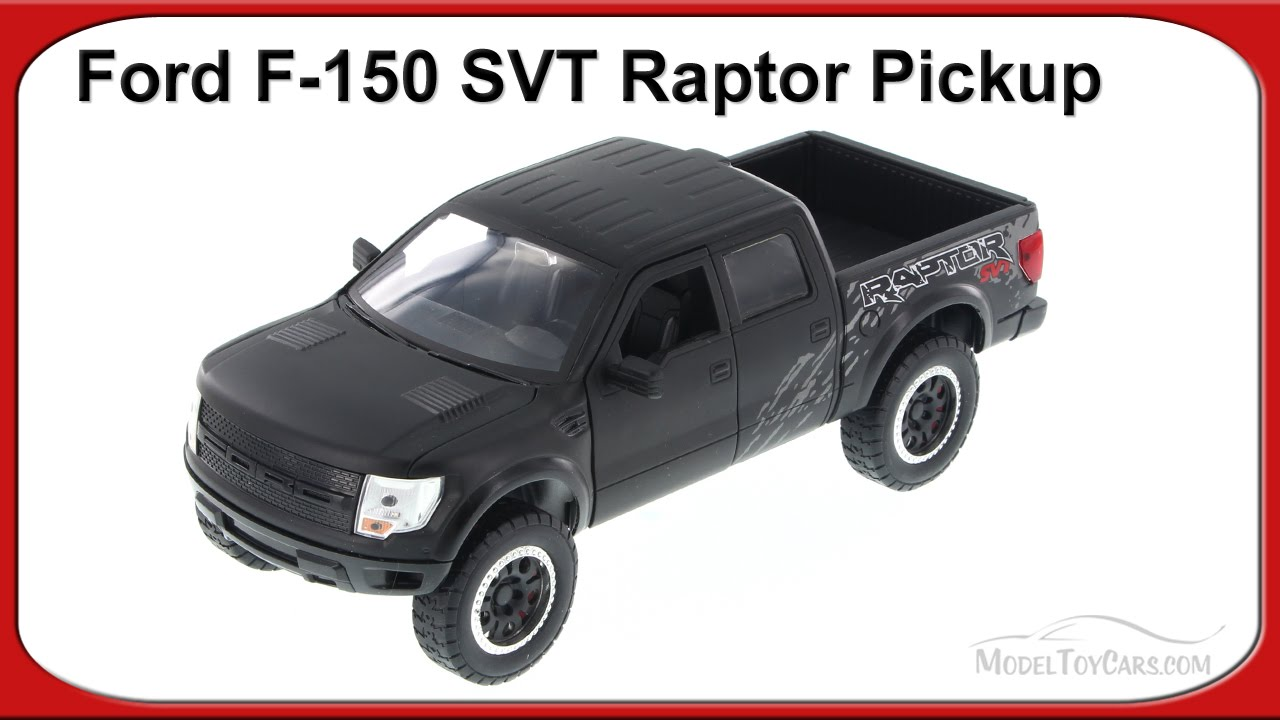 Ford f 150 svt raptor pickup truck black jada toys 96502 1 24 scale diecast car youtube