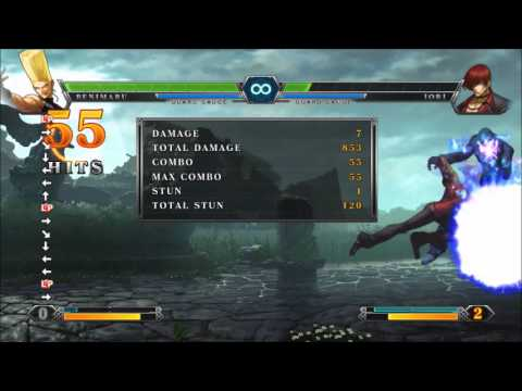 KOF XIII - Benimaru: Command grab combo (2PG 2DC)