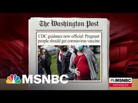CDC Recommends Pregnant Women Receive Coronavirus Vaccine