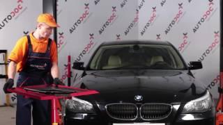 Montavimo Rėmas, stabilizatoriaus tvirtinimas BMW 5 SERIES: vaizdo pamokomis