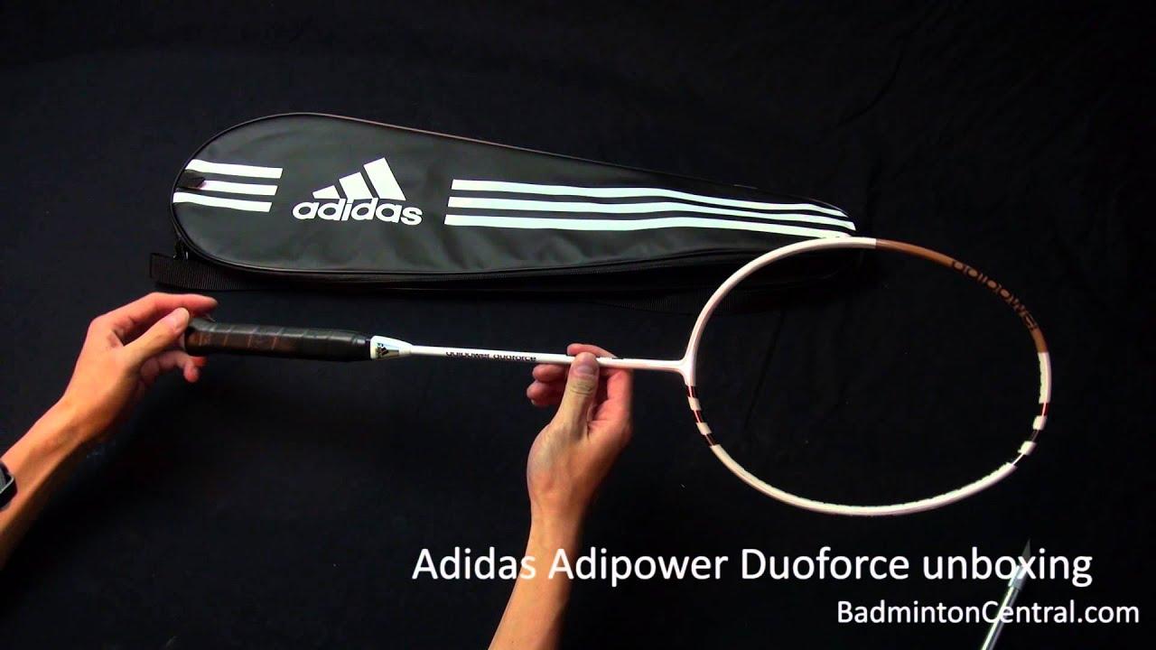 Adidas Adipower Duoforce Badminton Racket Unboxing