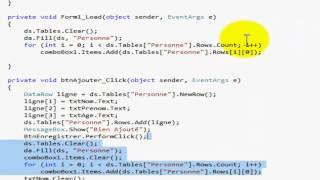 (ADO.net) Ajouter - Modifier - Supprimer - Rechercher - Afficher (mode déconnecté)
